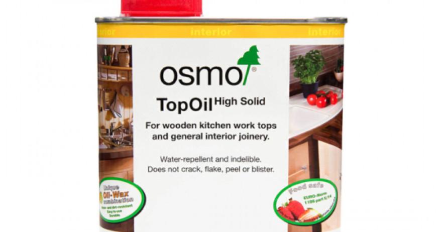 OSMO 3037 TopOil Balta 0.5L Eļļa ar vasku mēbelēm