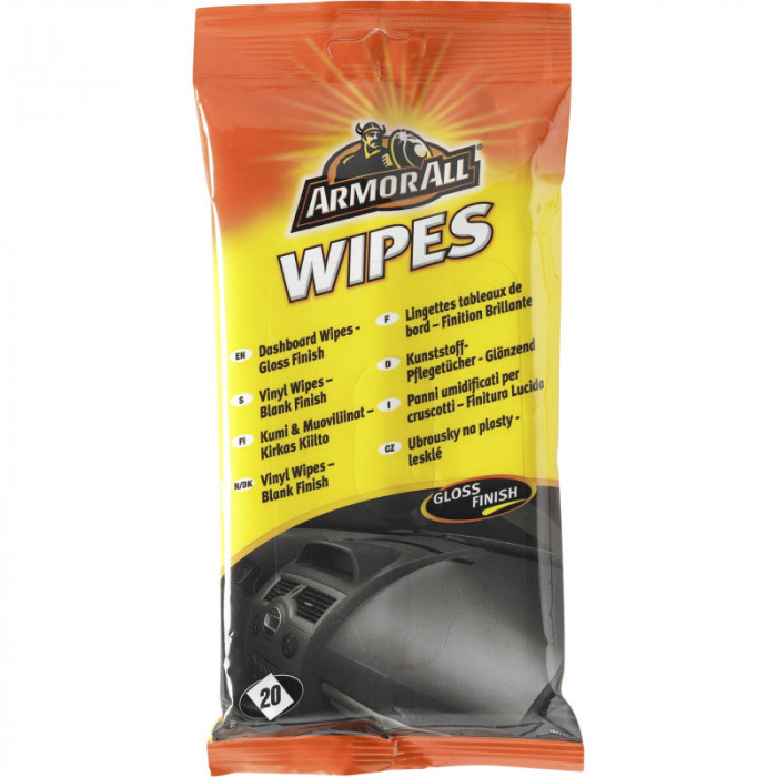 ArmorAll Dashboard Wipes - Gloss Pouch (20)