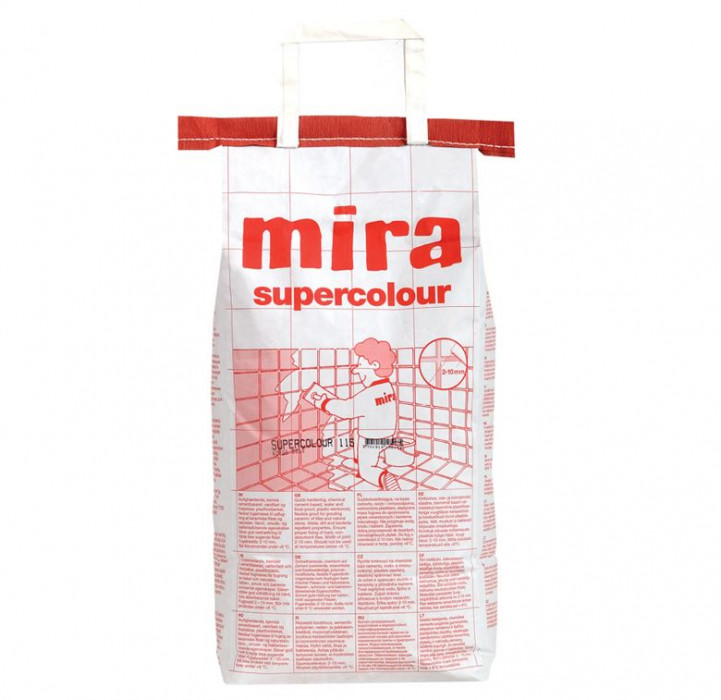 mira SUPERCOLOUR 144 5kg Improved grout filler for ceramics and natural stone (CG2 W A)