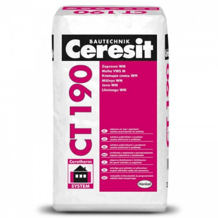 Ceresit CT190 25kg Flex adhesive and reinforcing mortar for mineral wool