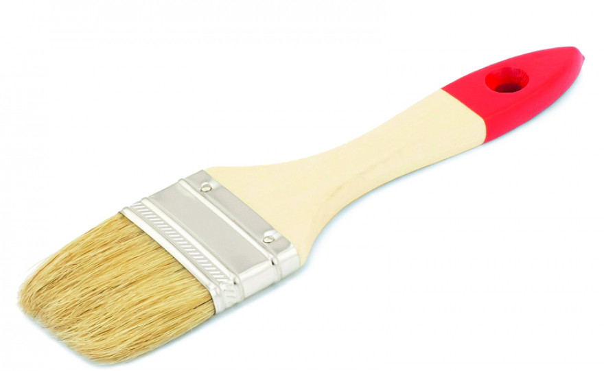 COLOR EXPERT Flat brush  50mm 5th grade,mix, light bristle,lacq.wood.handle