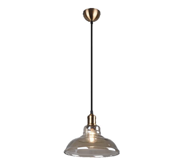Griestu lampa TRIO Aldo 1XE27 max28W old brass R30731004