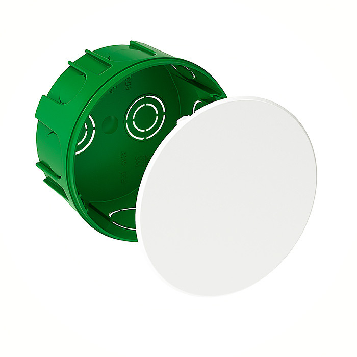 Junction Box / Apparatus Box SCH round D-100x50 with lid, green