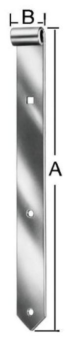 Shutter hinges 300x30x10mm Steel / ZN