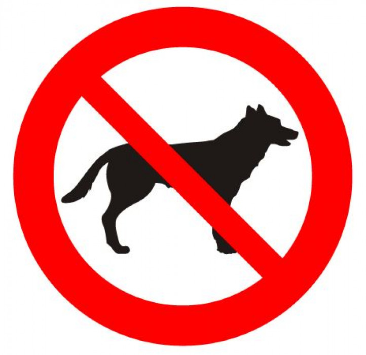 Sticker ''No animals allowed'' D-10