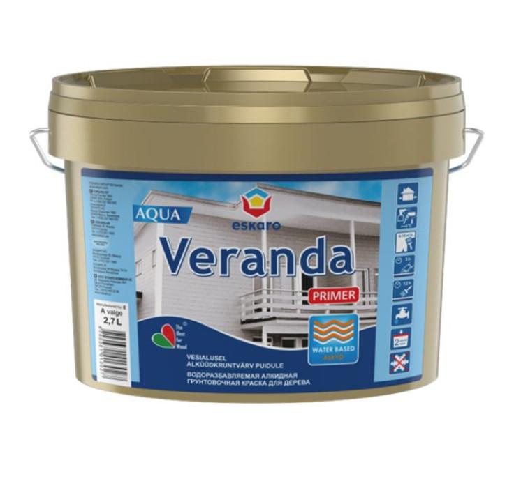 Eskaro VERANDA PRIMER AQUA 2.7L Gruntskrāsa kokam