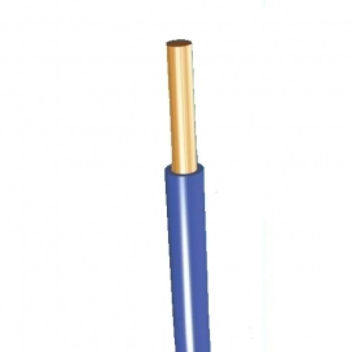 Wire monolithic single Core  4mm2 blue H07V-U