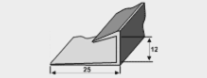 Riģipša nobeiguma vadula J-vei da (PVC) 3,0m  VWS CN/02.1