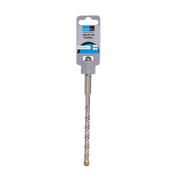 Hammer drill bit SDS plus S4 8x100/160mm NOVIPRO