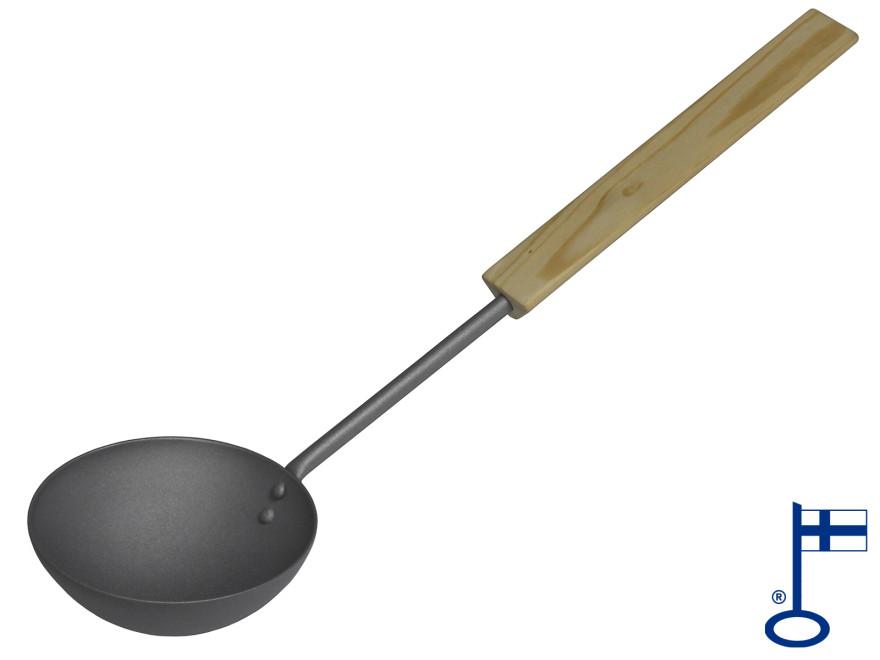 Pisla Lumo pirts karote 44cm, metāla pelēka, koka rokturis