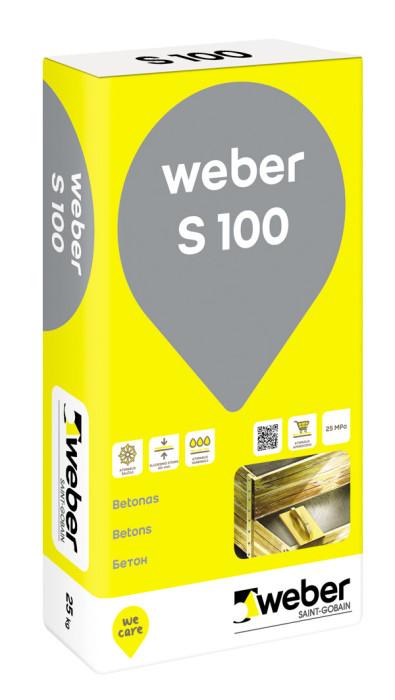 Weber S-100, 25kg sausais betons klons 48gab./pal.