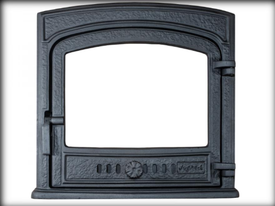JUGNE-L kamīna durvis Z-15 ar  termostiklu 500x500 mm  4779028770535