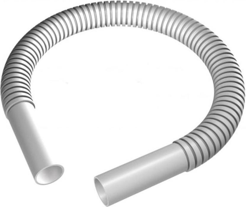 Caurules savienojums lokanais 16mm garais pelēks