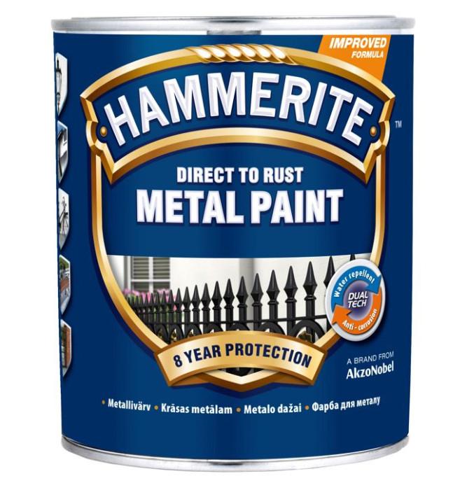 Hammerite Smooth Finish 750ml Silver