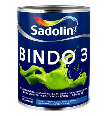 Sadolin BINDO  3 BW   1L  Lateksa griestu/sienu krāsa