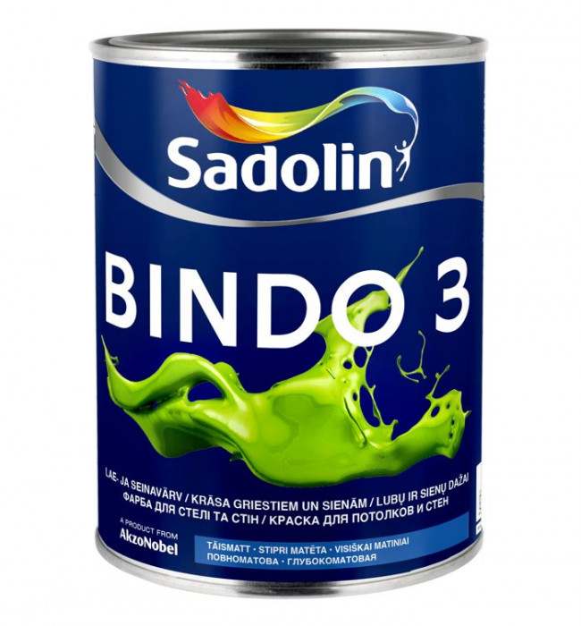 Sadolin BINDO 3 BW 1 L paint for ceilings and walls