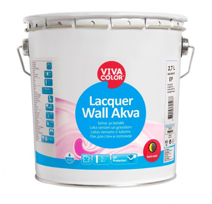 Vivacolor LACQUER WALL AKVA EP 2.7L Lacquer for wooden walls and ceilings