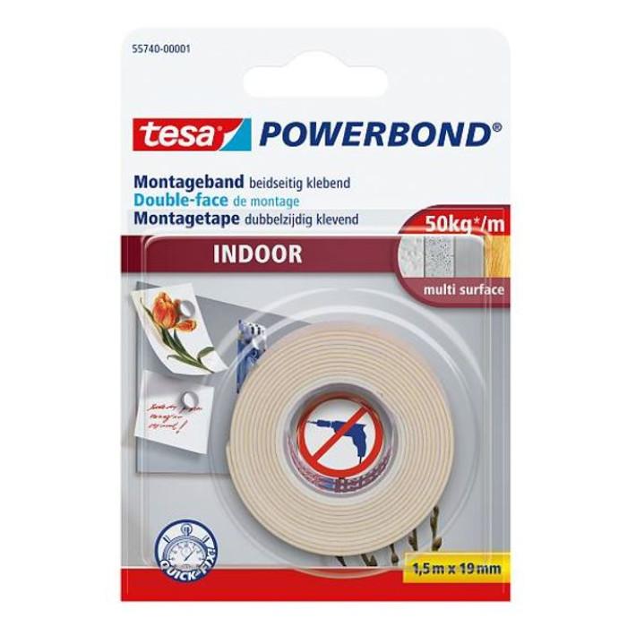 tesa 55740 Powerbond INDOOR 1.5mx19mm