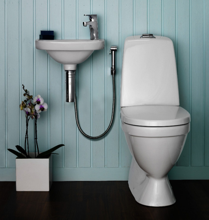 Bathroom sink faucet Nautic, side spray