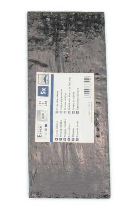 COLOR EXPERT 5 sheets sanding mesh grain80, 115x280mm Silicon Carbide