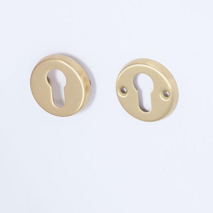 escutcheon for cylinder brass satin