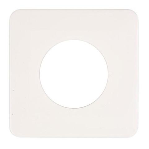 Dekoratīvais paliktnis slēdzim  130x130 balts