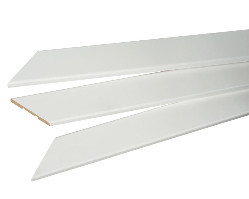 Noseglīste/aploda MDF Opus  12x70 balta (komp5.5m) L-2200