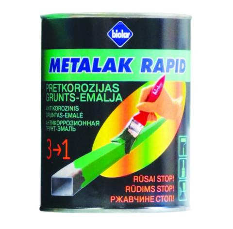 Biolar METALAK RAPID 0.45L RAL  9005 Melna krāsa metālam