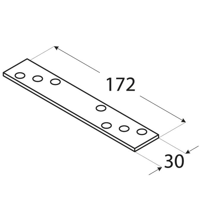 Montāžas plāksne 172x30x3.0