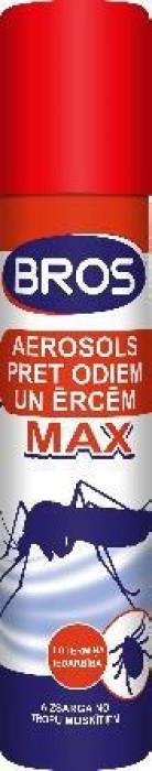 Bros MAX aerosols pret odiem un ērcēm 90ml