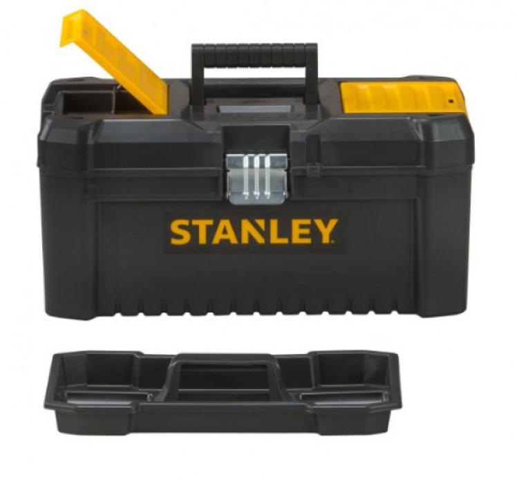 """Instrumentu kaste 16"""" Stanley Essential ar metāla klipšiem, STST1-75518"""