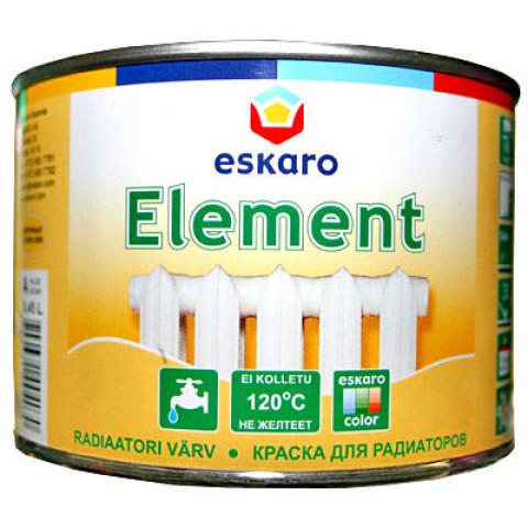 Eskaro ELEMENT 0.45l Pusmatēt a akrila krāsa radiatoriem