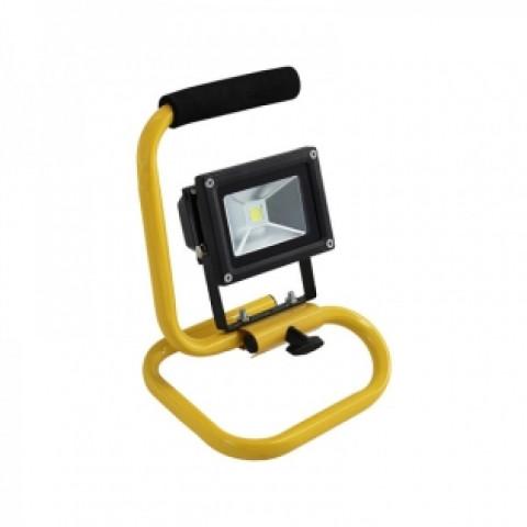 Prožektors LED 10W  IP65  1000Lm 6500K pārnēsājams