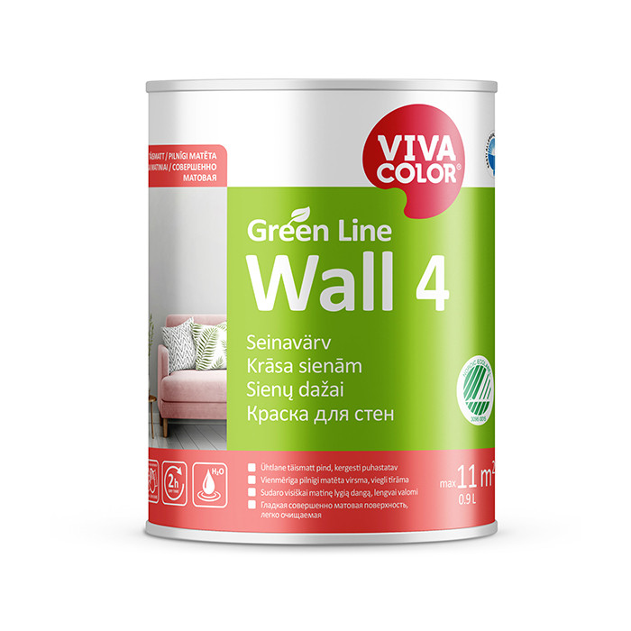 VIVACOLOR GL Wall 4 A 0.9L Full matt wall paint