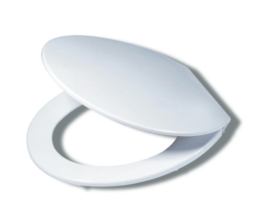 EUROPA Toilet seat, white, thermoplast