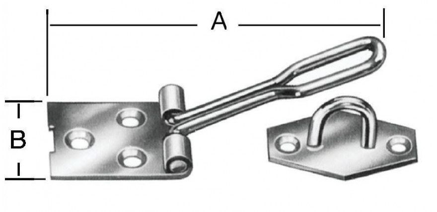 Wire padlock latches 80x22mm Steel/zn