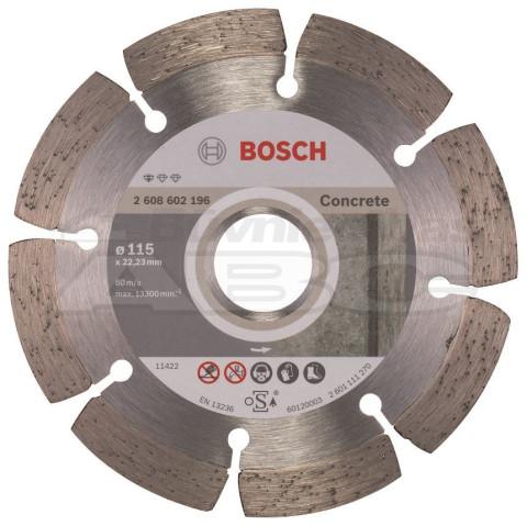 Dimanta ripa Betonam segmenta  BOSCH BPE 115x22.23mm