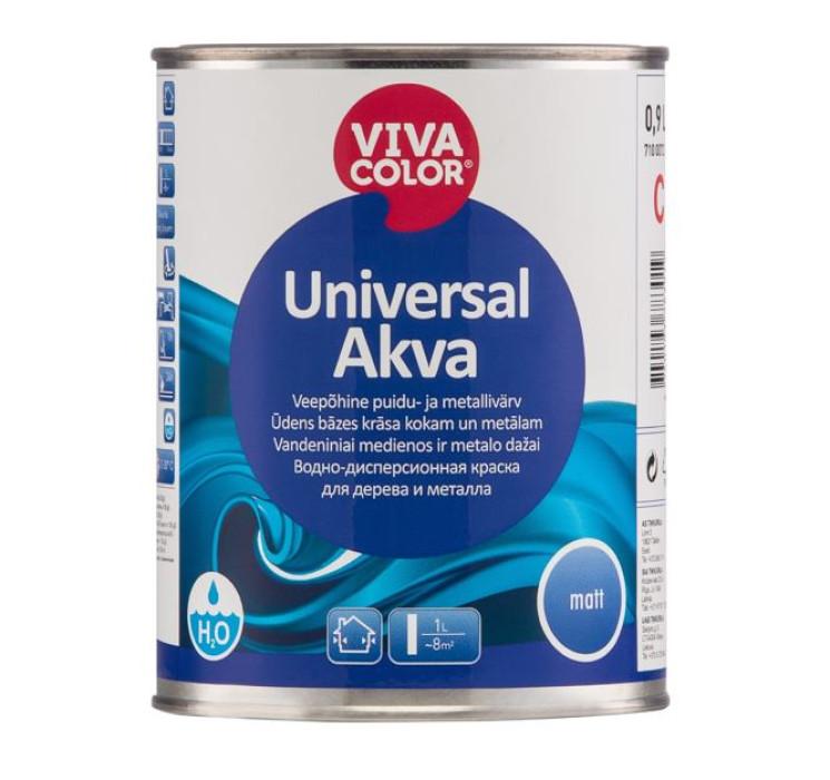 Vivacolor UNIVERSAL AKVA C 0.9L matt water-based paint