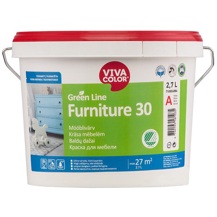 Vivacolor GL Furniture 30 A 2.7L Semi matt furniture paint