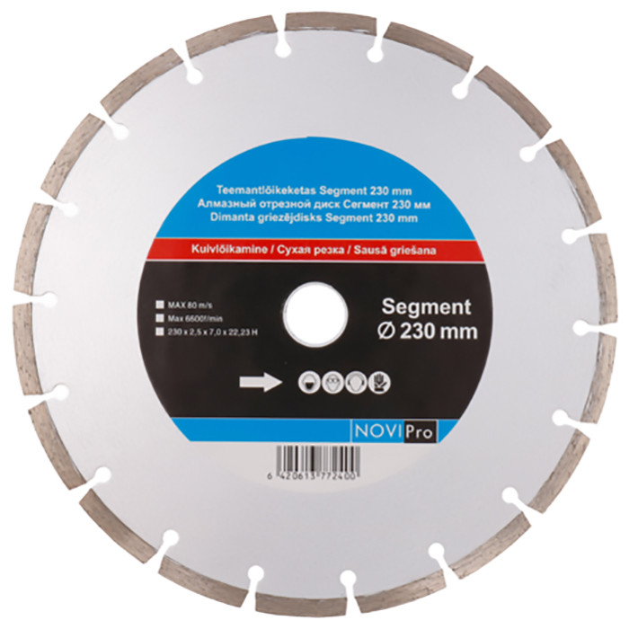 Segmented diamond disc 230mm, Novipro