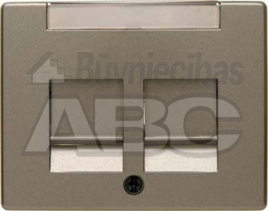 BERKER ARSYS bronze centre plate with 2 dust protection sliders