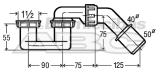 106263 Dušas/vannas sifons1  1/2x40/50bez vent.plastm