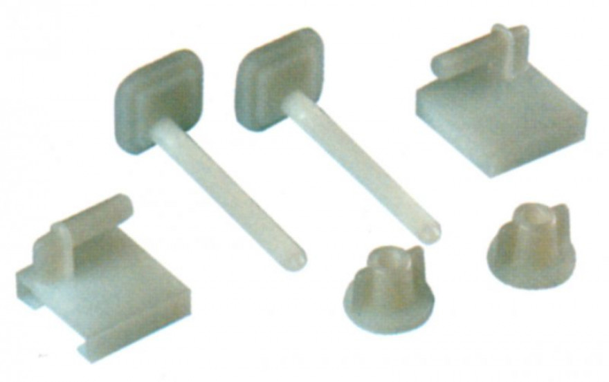 Spare hinges for toilet seats, nylon