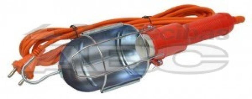 Pārnēsājamā lampa ACUMA E27 10 0W vaļējs met.aizs+plastm.rokt