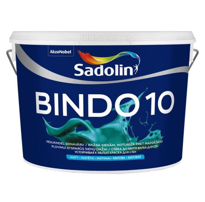 Sadolin BINDO 10 BC 9.3L Matēta lateksa krāsa sienām