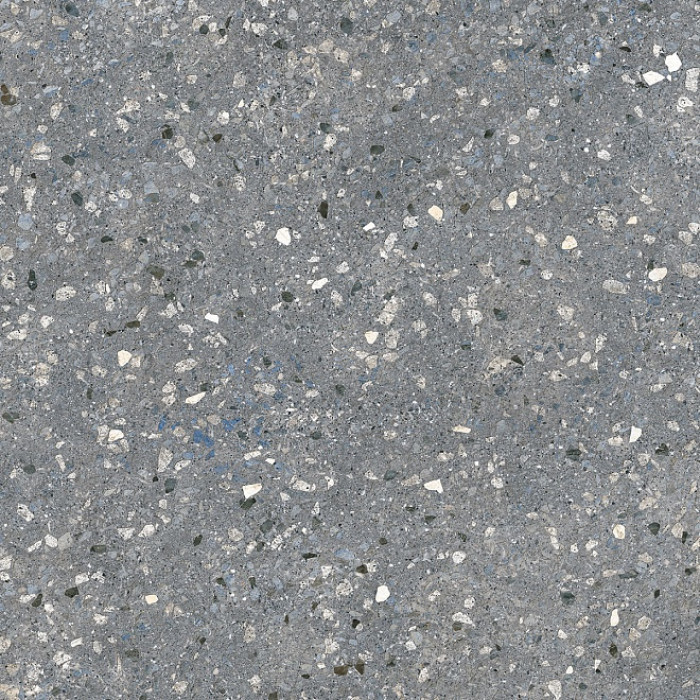 Floor tiles 60x60x11 Terazzo dark gray R10