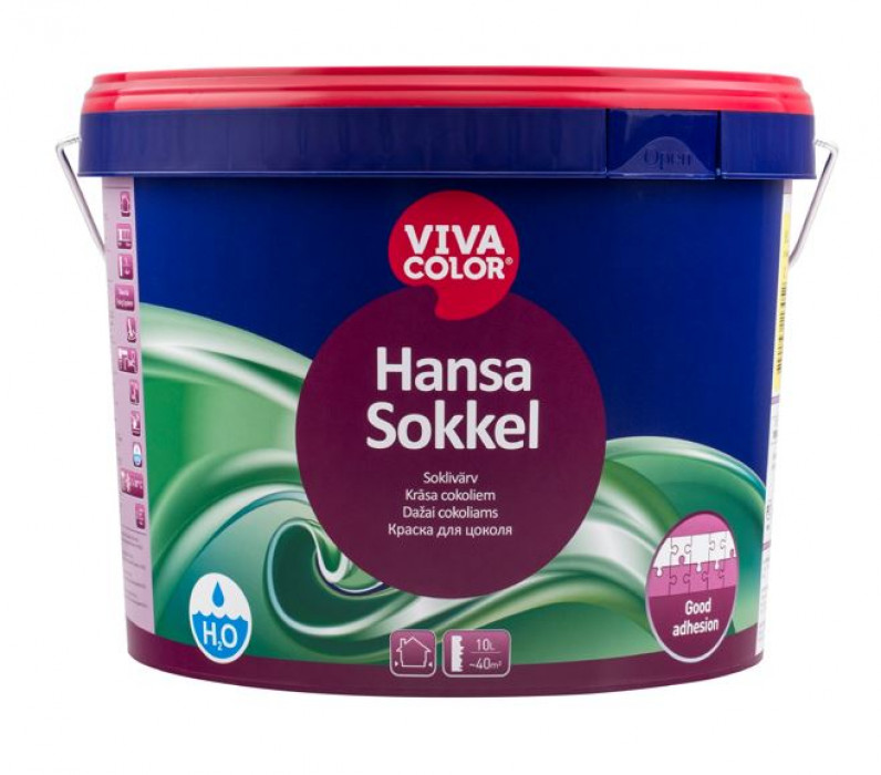 Vivacolor HANSA SOKKEL A 9l Waterborne socket paint