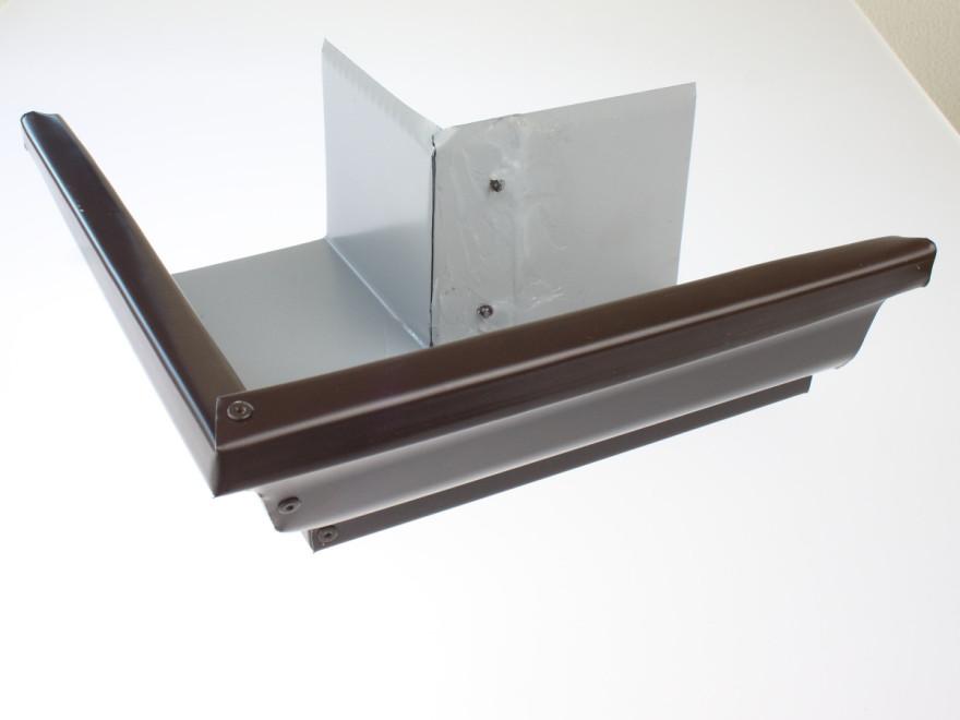 Gutter's angle 127 mm (external), brown