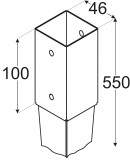 Staba pamatne 46x550x1.5mm