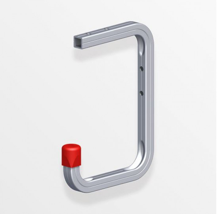 Wall hook 115x160x100 Aluminum/silver